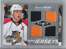 10-11 2010-11 BLACK DIAMOND STEPHEN WEISS QUAD JERSEY QJ-SW UD FLORIDA PANTHERS