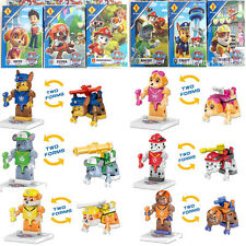 Lots of 6 sets Paw Patrol dog pup series building toys Christmas gift doll