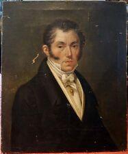 Le Dandy, 1820, Magnifique Portrait D'Epoque Restauration! Ecole Française!!