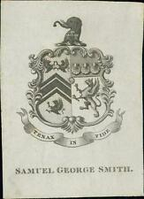 Samuel George Smith. Bookplate.   qq1100