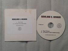 Rowland S Howard Pop Crimes Promo CD Rare Birthday Party
