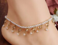 Fashion Barefoot Sandal Beach Pearl Foot Jewelry Anklet Chain Charm Bracelet AF