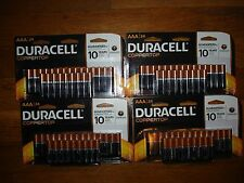 (4) PACK  24 X 4  AAA   DURACELL BATTERIES. TOTAL OF 96  BATTERIES.