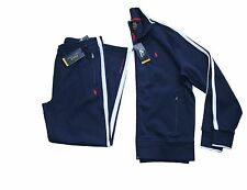 Polo Ralph Lauren Full Zip Track Jacket and Pant Set in Size Large in Navy