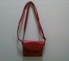 VINTAGE CALYPSO RED PURSE ITALY WOMEN ACCESSORY SHOULDER PURSE BAG HANDBAG