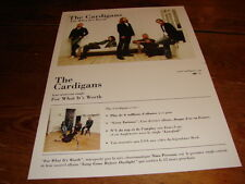 THE CARDIGANS FOR WHAT ITS WORTH!!RARE FRENCH PRESS/KIT