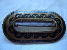Vintage De Metal Y Esmalte Zapato Hebilla