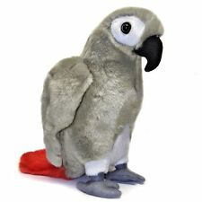 23cm Grey Parrot Soft Toy by Dowman - Plush Cuddly Toy