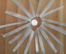 Natural Selenite Crystal Wand Gemstone Dowser Angel Stone Healing Chakra Lge10cm