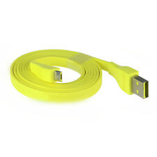 Yellow Micro USB Cable For Logitech Ultimate Ears UE BOOM Bluetooth Speak 4ft