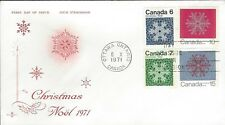 1971 Christmas #554-57p Snowflakes TAGGED FDC with Rose Craft cachet