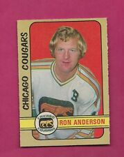 1972-73 OPC WHA # 298 COUGARS RON ANDERSON HIGH # NRMT + CARD (INV#3492)