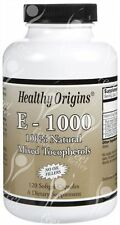 Natural Vitamin E as D-Alpha Tocopherol - 1000 IU x120caps
