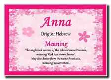 Anna Personalised Name Meaning Jumbo Magnet