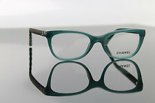 Authentic Chanel 3288 Q 1447 Eyeglasses Frames Green CC Quilting Spectacle 49m
