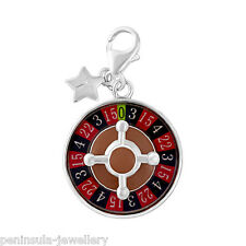 Tingle Roulette Wheel Sterling Silver Clip on Charm with Gift Box and Bag SCH279