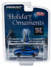 GREENLIGHT 1:64 NISSAN GT-R R35 MIJO HOLIDAY BLUE ORNAMENTS 51079 LIMITED