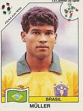 N°209 MULLER BRAZIL BRASIL PANINI WORLD CUP 1990 STICKER VIGNETTE 90