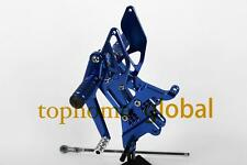Blue CNC Foot pegs Rearsets Rear Brake set For Yamaha YZF R6 2003 2004 2005