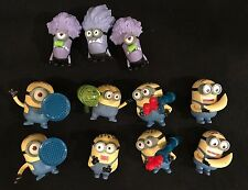 11 Mcdonalds 2013 Happy Meal TOYS Despicable Me MINIONS figures cake toppers LOT