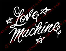 "x1 ""Love Machine"" Cheech & Chong Up In Smoke, Chevrolet Impala 1/4 window decal"