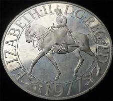 1977 ELIZABETH II SILVER PROOF CROWN COIN - MARKED