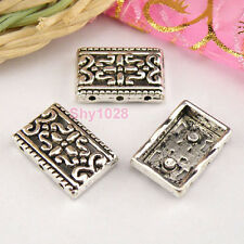 30Pcs Tibetan Silver 3-Holes Connectors Spacer Beads 12x17.5mm A5081