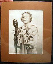 1936 HELEN MARSHALL NBC RADIO SINGING STAR JUILLIARD GRADUATE