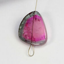 8.9CT Fine Pink Blue Watermelon Tourmaline Large Slice Bead Focal