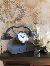Home Ornament Decoration Telephone Clock Industrial Antique Vintage Art Style