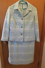 Vintage Fitted Dress and Jacket size 18.5 (Runs small-12) Poly Knit Flowered-70s