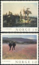 Norway 1977 Norwegian Art/Paintings/Artists/Trees/Landscape/People 2v set n44871