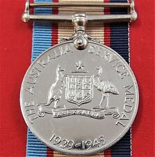 WW2 THE 1939/45 AUSTRALIAN SERVICE MEDAL RIBBON ORIGINAL MEDAL MOUNTING ANZAC