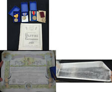 WW2 NAVY GROUP - NAMED GOOD CONDUCT, MEDALS, SHELLBACK CERT, PANORAMIC- MISC568