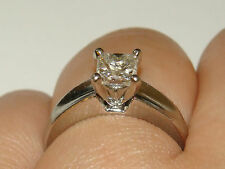 WOW SALE PT900 GIA Platinum Princess Cut Diamond Ring 7.2Gms 1ct. H-VVS2 Sze6.5