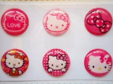 Cute Hot Pink Hello Kitty 'Love' Button Sticker for Apple iPhone 3 3GS 4 4S 5