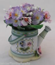 PANSY WATERING CAN  FLOWER ARRANGEMENT RESIN A.RICHESCO
