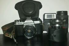 VTG Lot METAL BODY ASAHI PENTAX K1000 Manual SLR Photography Class SMC 55MM LENS