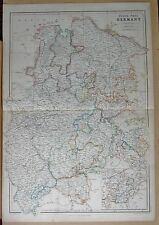 1860  LARGE ANTIQUE MAP - NORTH WEST GERMANY