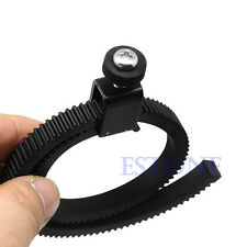Adjustable Flexible Follow Focus Gear Ring Belt Lens for DSLR  Camcorder Camera