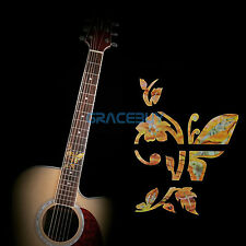 Guitar Inlay Sticker Bass Fretboard Markers Decals Butterfly Flower Yellow