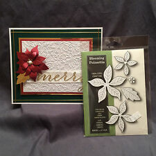 Christmas dies BLOOMING POINSETTIA die set - POPPYSTAMPS 861 Holidays,Flowers