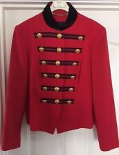 Designer MONDI Vintage Red Military Jacket (UK14) - Cost  £350