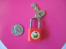 SANRIO HELLO KITTY MINI MASCOT LOCK RED VINTAGE 1976/1989 NEW