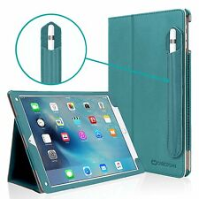 Apple iPad Pro 9.7 Case Stand Smart Cover Sleep / Wake Pencil Holder Teal