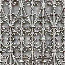 Muriva Iron Trellis Pattern Wallpaper Modern Ornate Photographic Gate L14708