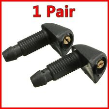 Pair Plastic Car Front Window Windshield Washer JET Spray Nozzle For BMW Black