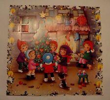 VINTAGE CHRISTMAS ADVENT 3-D POP UP CHILDREN AROUND TREE GEMO DENMARK