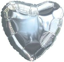 "18"" Solid Silver Heart Shape Balloon Wedding Baby Shower Birthday Luau Bridal"
