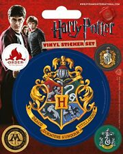 HARRY POTTER hogwarts + 4 mini 2014 - VINYL STICKERS SET official merchandise